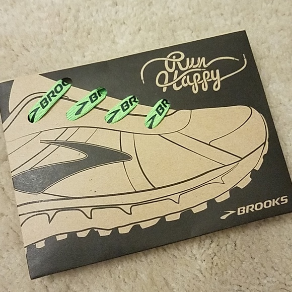 3 Neon Green Brooks Running Shoe Laces